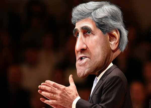 John Kerry Caricature by DonkeyHotey