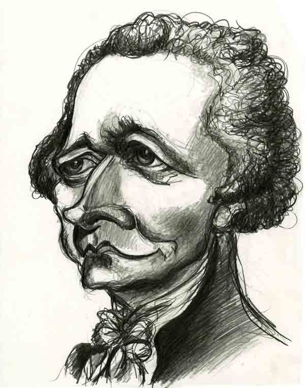Alexander Hamilton Caricature by Jason Cottle