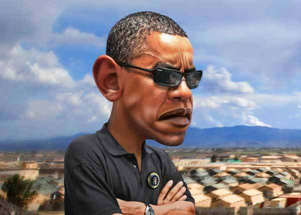 Barack Obama Caricature by DonkeyHotey