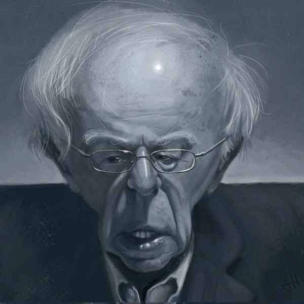 Bernie Sanders Caricature by James Huntley