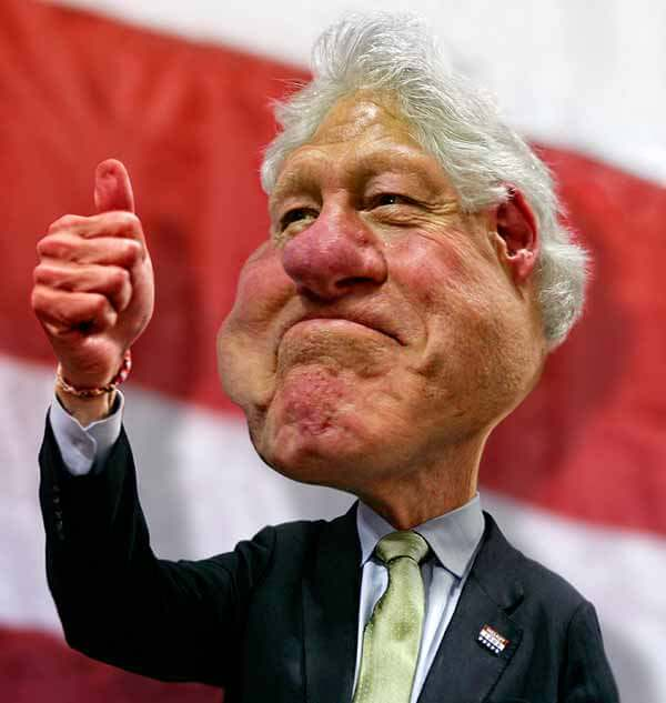 Bill Clinton Caricature by Rodney Pike