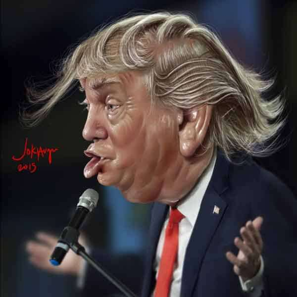 Donald Trump Caricature By Jokiar Gu