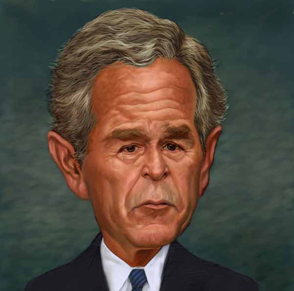 George Bush Caricature by Jim Pearson