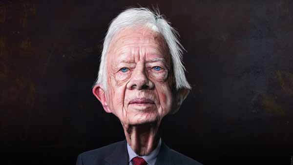 Jimmy Carter Caricature by DonkeyHotey