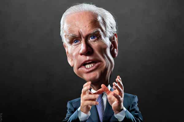Joe Biden Caricature by Donkeyhotey