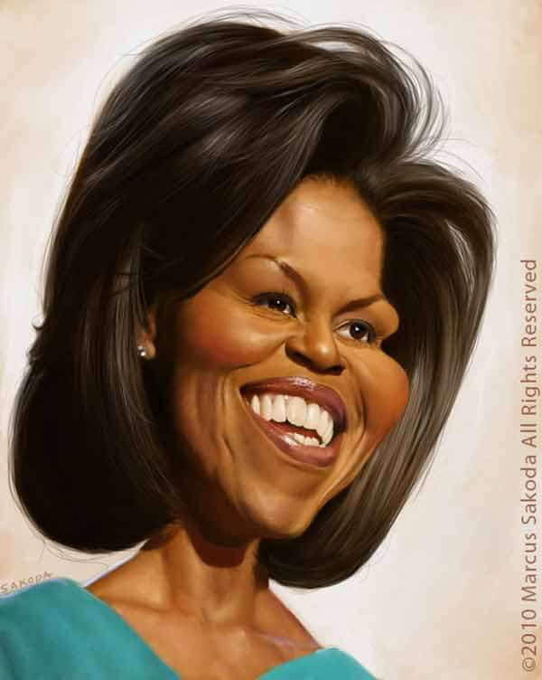 Michelle Obama Caricature by Marcus Sakoda