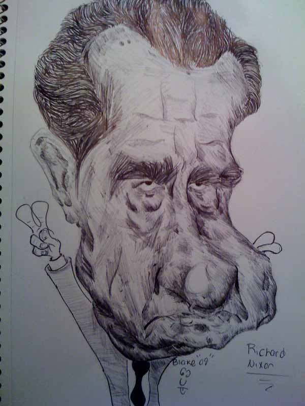 Richard Nixon Caricature by Cartoonicature93