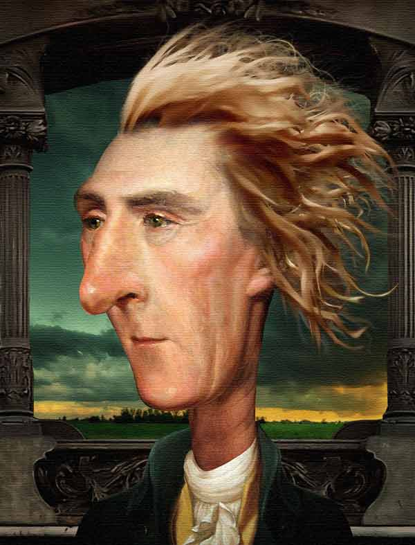 Thomas Jefferson Caricature by Funkwood