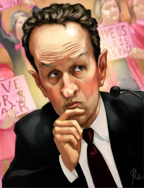 Tim Geithner Caricature by J Wohland