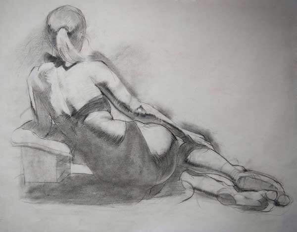 Andrea Ballestero Lounging Female Figure