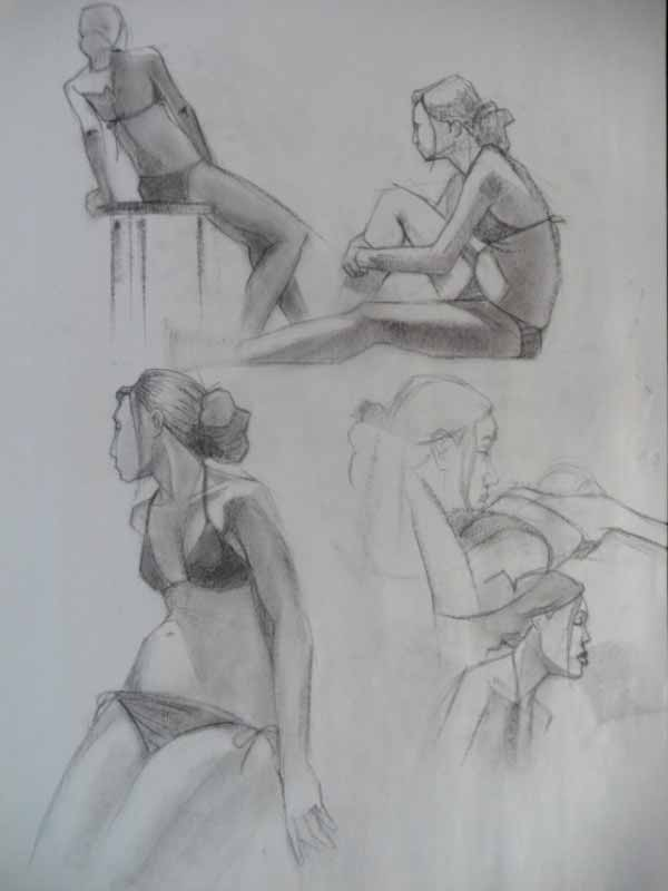 Benjamin Harmon Short Pose Figure Drawing