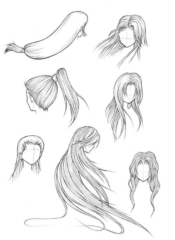 How To Draw Manga Hair Tutorial
