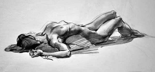 Jaime Jones Reclining Female Figure