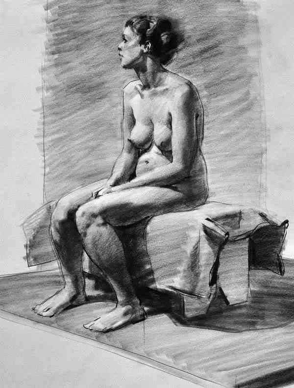 Jaime Jones Sitting Female Figure