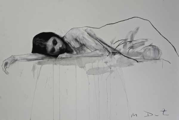 Mark Demsteader Girl Lying Down