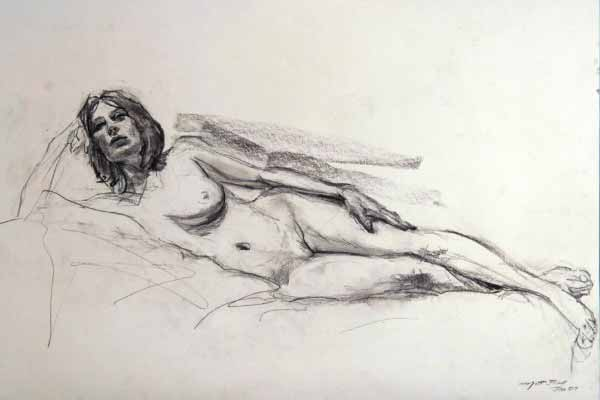 Matt Bell Reclining Figure Drawing