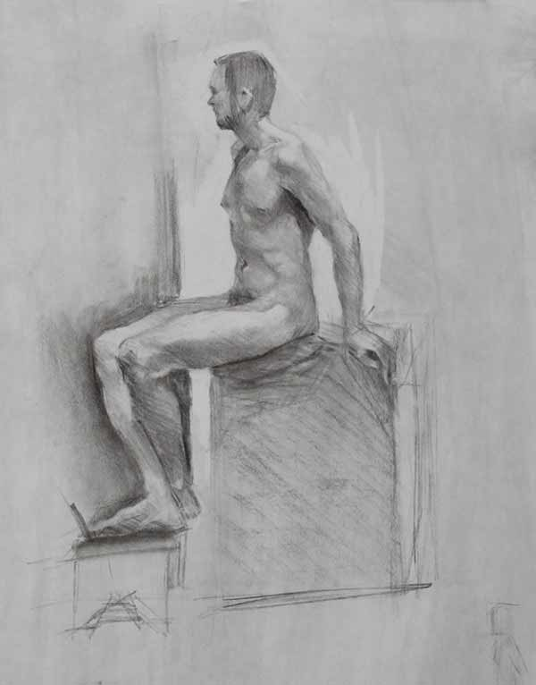 Wenley Shen Sitting Male Figure