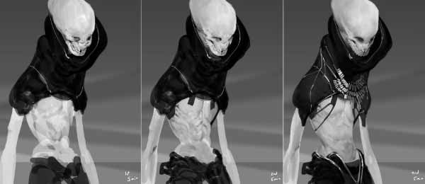 Aquatic Humanoid Species Concept Art