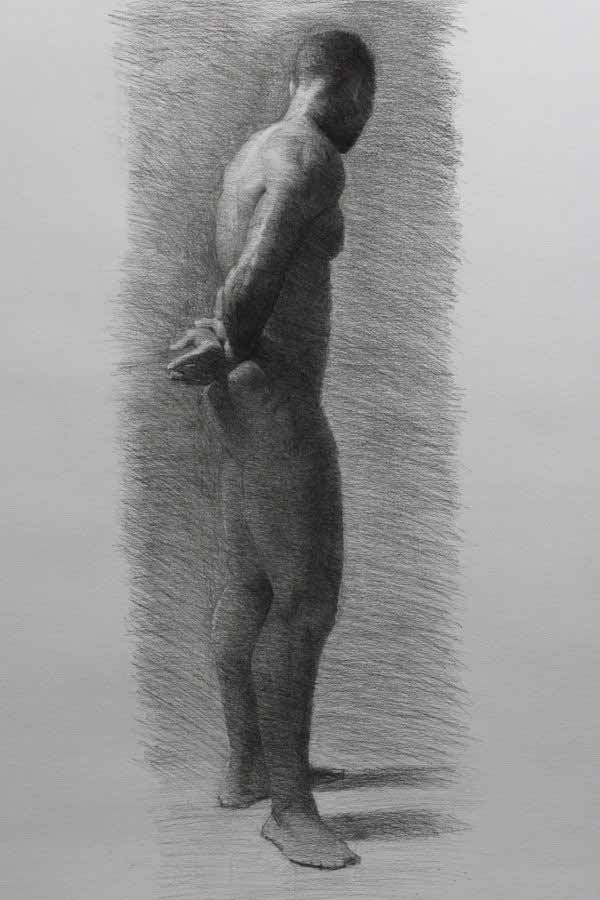 Standing Figure Drawing By Conor Burke