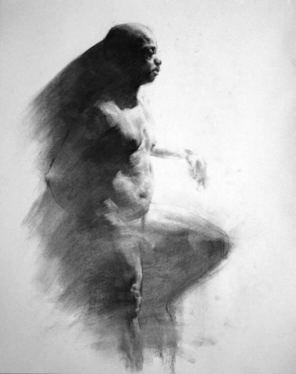 Male Figure Sketch By Evan Youngdo Lee