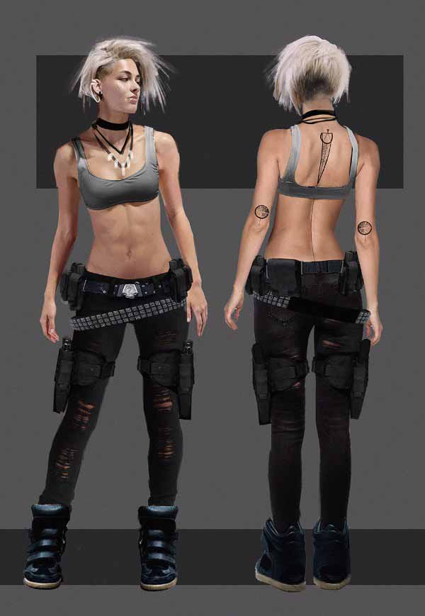Cyberpunk Girl Design By Fabio Cacciola