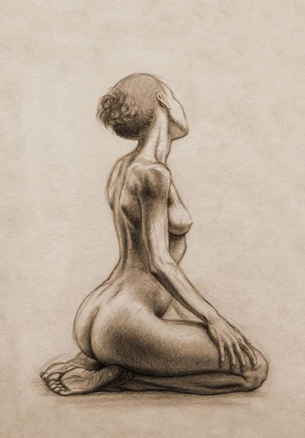 Life Drawing By Francis Bezooyen