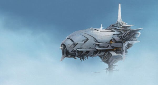 Space Cruiser Concept Art By Il Kim