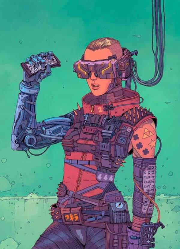 Female Cyberpunk Art By Josan Gonzalez