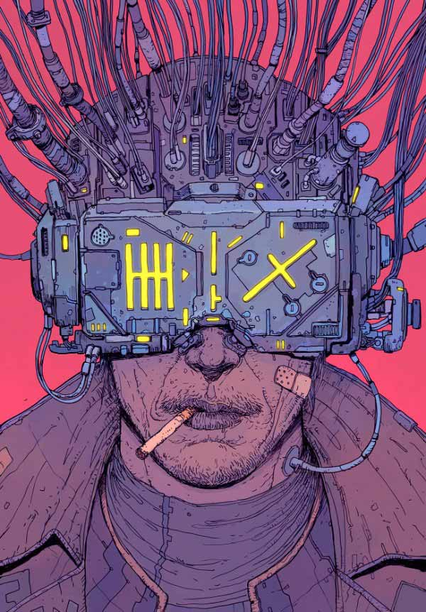 Male Cyberpunk Hacker By Josan Gonzalez