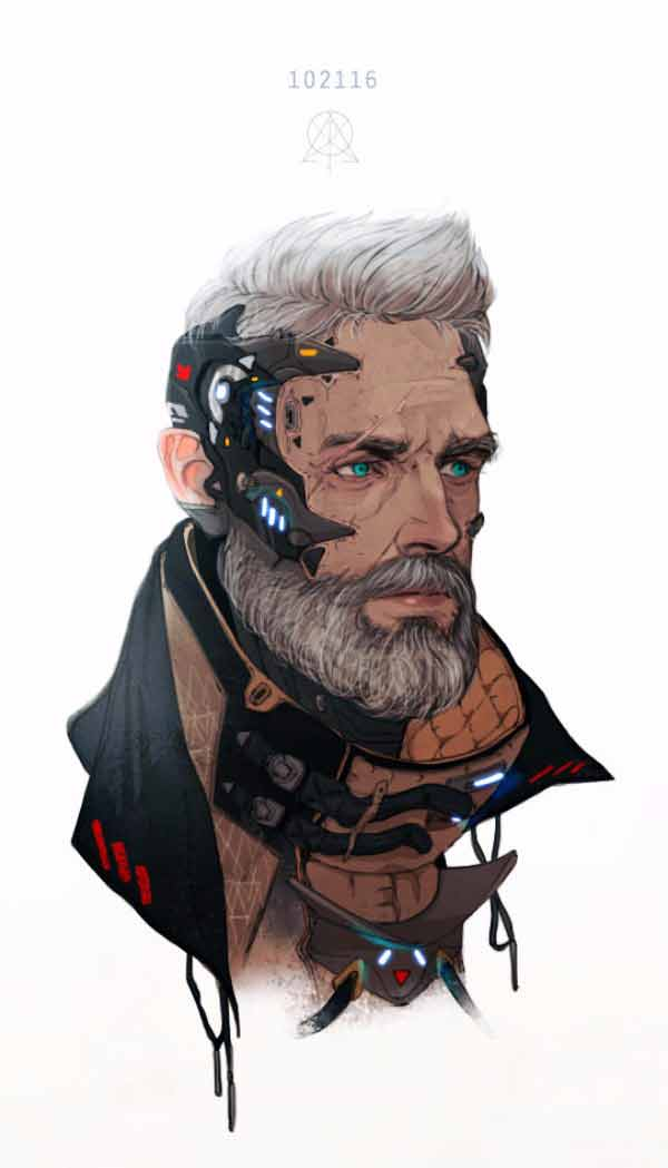 Sci Fi Old Guy By Manilyn Toledana