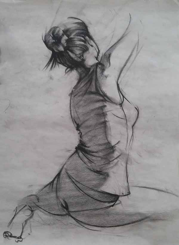Young Female Figure Drawing By Marcin Warzecha