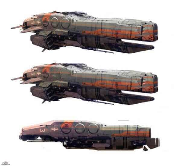Halo 4 Spaceship Concepts By Nicolas Bouvier