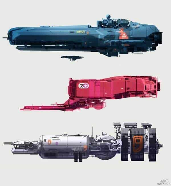 Sci Fi Spaceships By Nicolas Bouvier