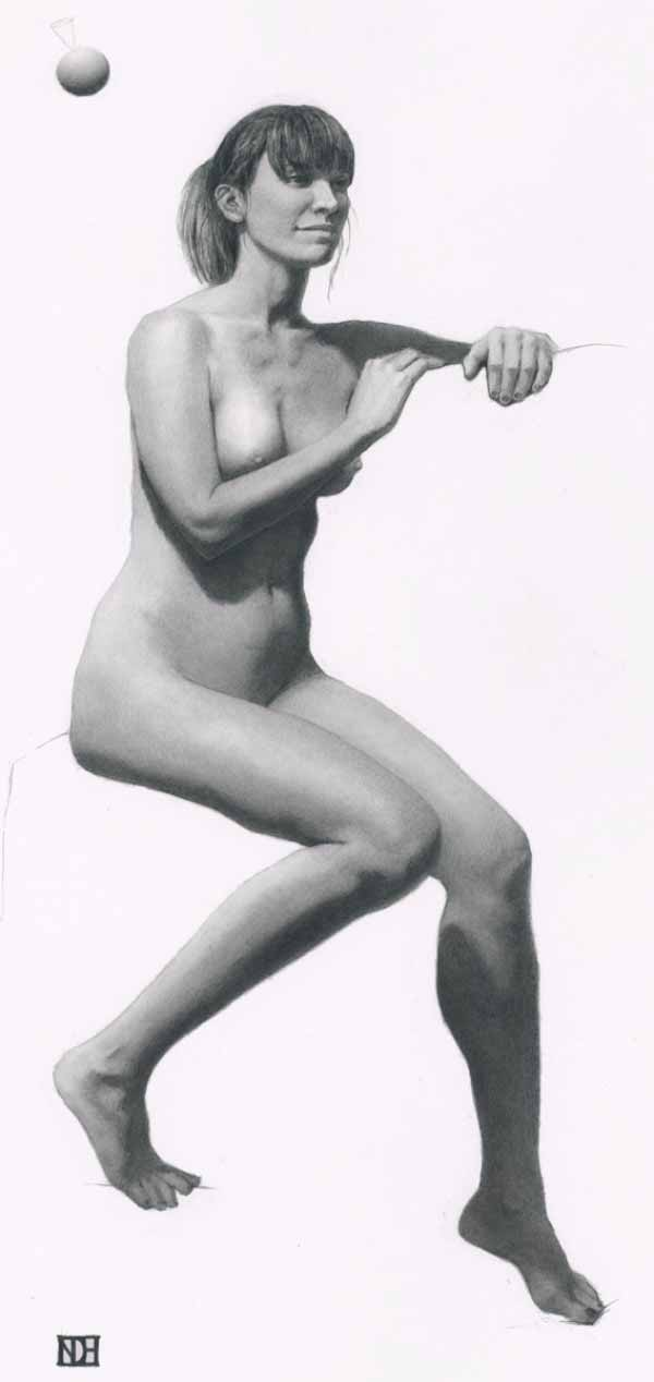 Female Nude Figure Drawing By Noel Hill