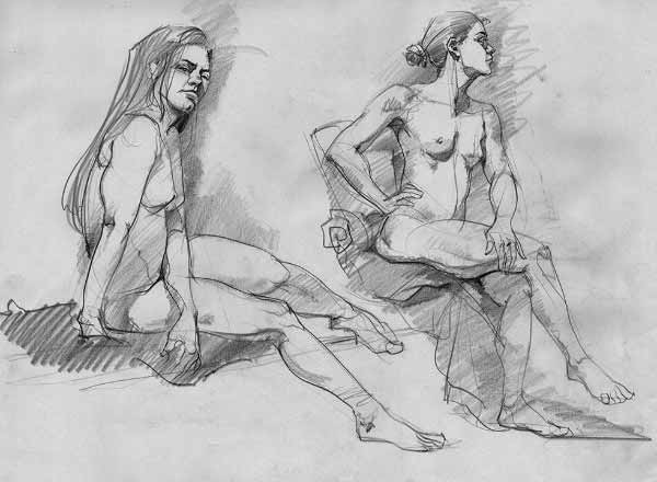 10 Minute Short Nude Drawing By Paul Mccusker