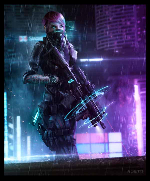 Cyberpunk Female Soldier By Phelan A Davion