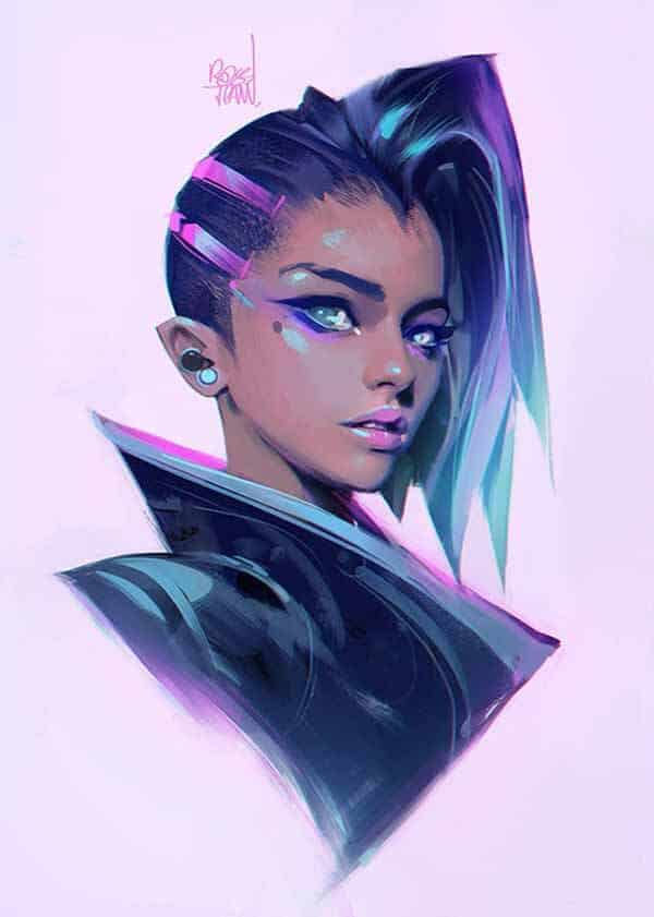 Cyberpunk Chick By Ross Tran