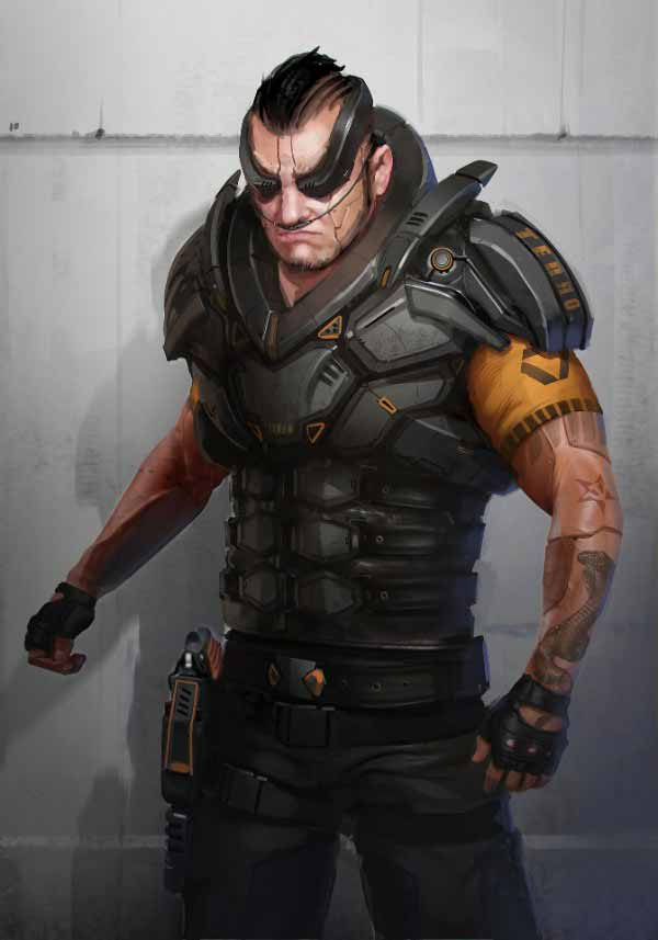 Cyberpunk Male By Samuel Aaron Whitehead