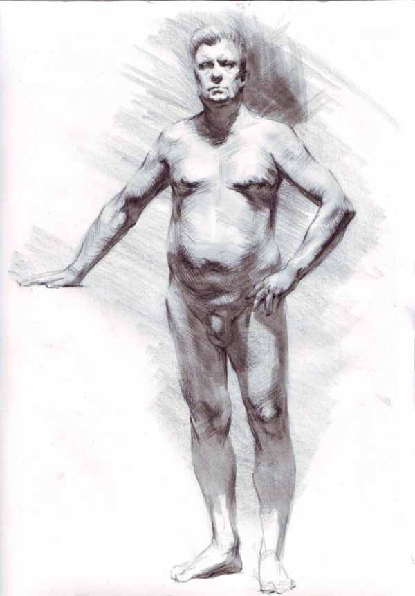 Figure Drawing By Samuel Schultz