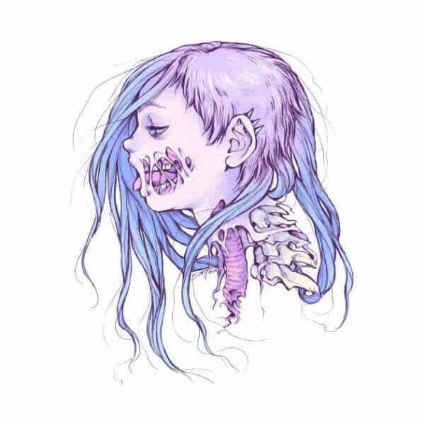 Zombie Girl Drawing By Savannah Horrocks