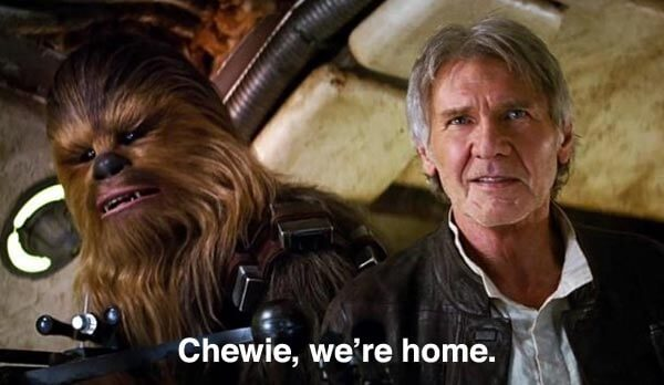Star Wars Chewie We're Home