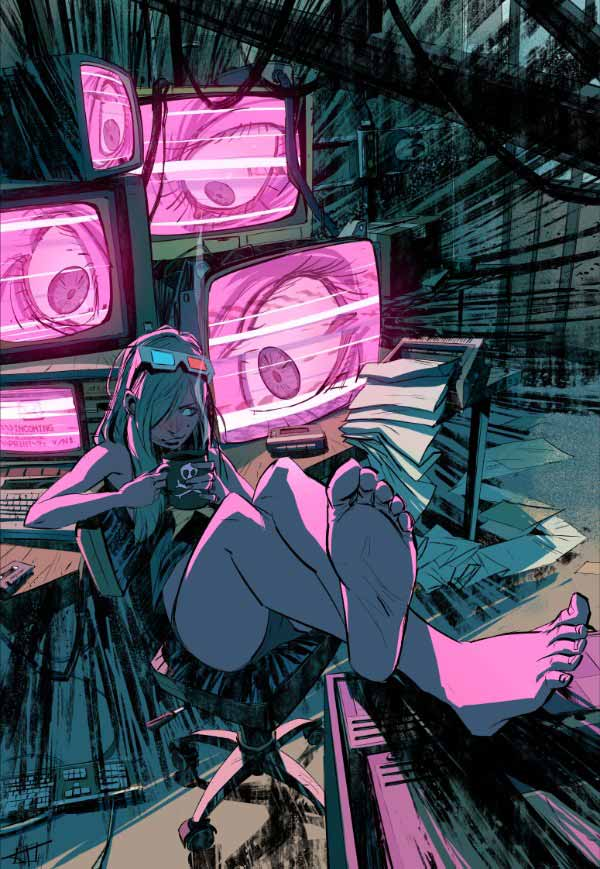 Cyberpunk Hacker Girl By Toni Infante