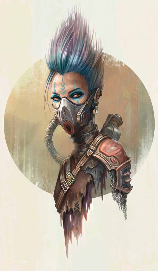 Post Apocalyptic Girl By Yasen Stoilov