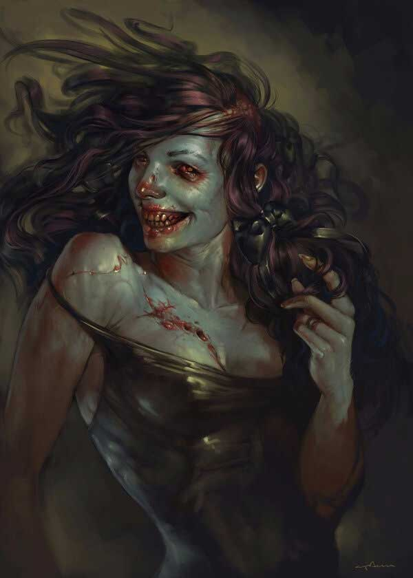 Pin Up Zombie Girl By Apterus