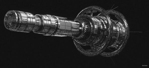 Realistic Future Spaceship Design By Ben Bolton