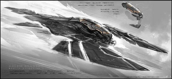 Wraith Attack Ship Concept From Jupiter Ascending By George Hull