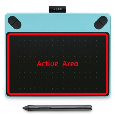 Wacom Active Drawing Area