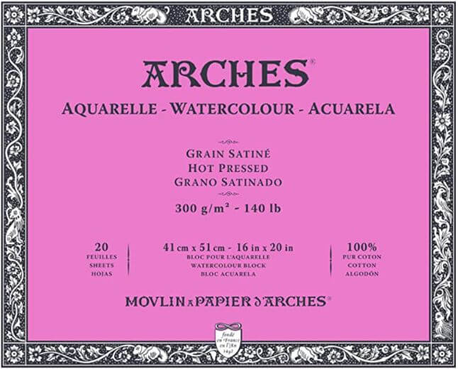 Arches Watercolor Paper Block Hot Press (350 Gsm 12 X 16) Review