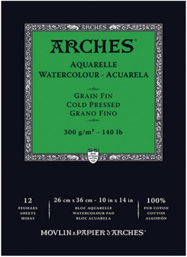 Arches Watercolor Paper Pad Cold Press (350 Gsm 10 X 14) Review