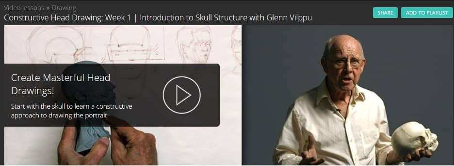 Constructive Head Drawing Video Lesson